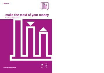 ….make the most of your money - The Personal Finance Society