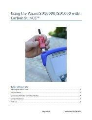 SurvCE - Parani Radio QuickStart guide - Carlson Software