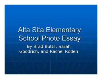 Alta Sita Elementary School Photo Essay