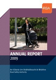 Annual Report 2009(PDF) - Road Safety Authority