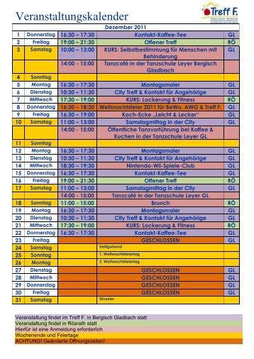 Veranstaltungskalender - Lebenshilfe RBK