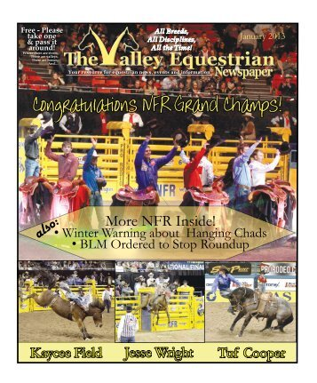 January 2013 - The Valley Equestrian Newspaper