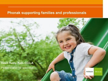 Phonak supporting families and professionals [PDF]