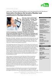 pressetext / 24.03.2009 - Audiocation Audio Akademie