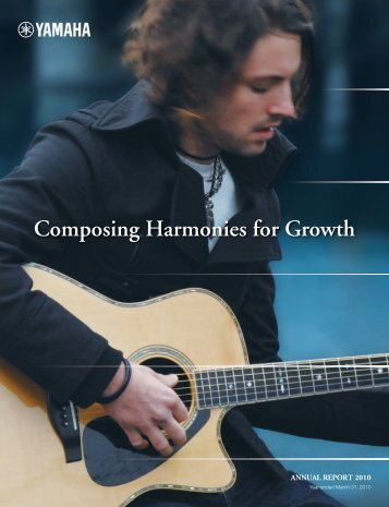Annual Report 2010 - Yamaha