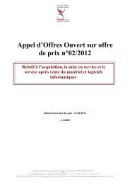 Appel d'Offres Ouvert sur offre de prix n°02/2012 - Agence Nationale ...
