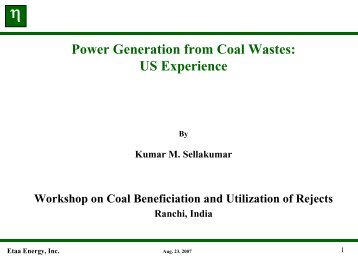 Power Generation from Coal Wastes - Office of Fossil Energy