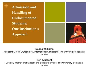 Admission and Handling of Undocumented Students - AACRAO