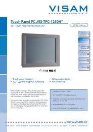"1 Touch Panel PC ""VIS-TPC-1250H"" - VISAM GmbH"