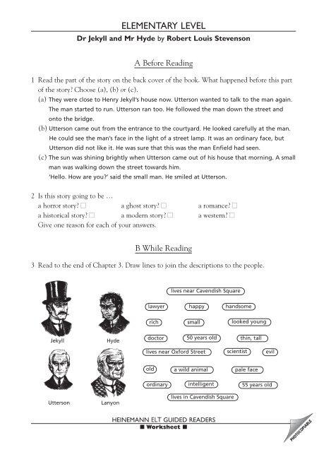 Dr Jekyll and Mr Hyde - Macmillan Readers