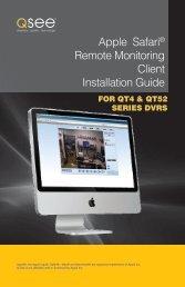 Apple Safari® Remote Monitoring Client Installation Guide - Q-See