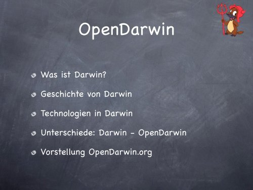 OpenDarwin Was ist Darwin