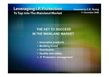 Presentation of CK Yeung, Blue Box Holdings Ltd., Hong Kong