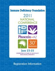 Registration Information - Immune Deficiency Foundation