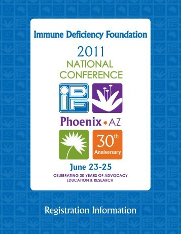 Registration Information - Immune Deficiency Foundation
