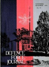 ISSUE 19 : Nov/Dec - 1979 - Australian Defence Force Journal
