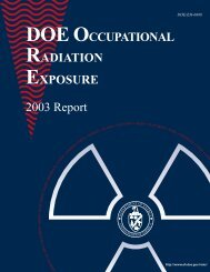 039 DOE 2003 Occupational Rad Exposure.pdf - National Nuclear ...