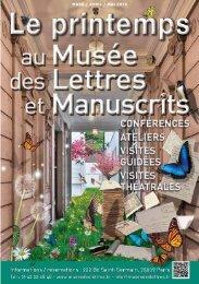 la programmation de mars à avril 2013 - Musée des lettres et ...