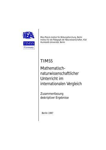 TIMSS-Broschüre