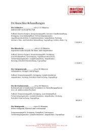 Dr.Hauschka-Behandlungen - Regioseiten