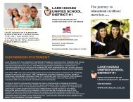Why Choose LHUSD? - Lake Havasu Unified School District