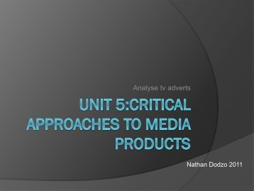 Critical approaches to TV adverts
