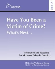 Have You Been a Victim of Crime? What's Next… - Office for Victims ...