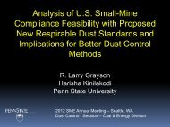 Analysis of U.S. Small-Mine Compliance Feasibility with ... - SME
