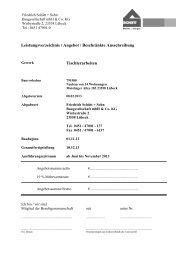 LV Tischlerarbeiten - Friedrich Schütt + Sohn Baugesellschaft mbH ...