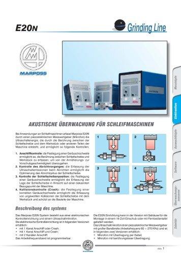 akustische überwachung für schleifmaschinen e20n - Marposs