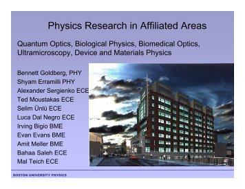 Physics Research in Affiliated Areas - Boston University Physics ...