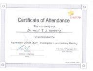 Certificate of Attendance CHILTERN