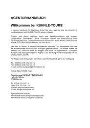 AGENTURHANDBUCH Willkommen bei KUHNLE-TOURS!