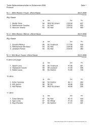 Presserangliste - Landesschwimmverband Tirol