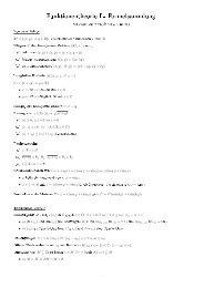 Funktionentheorie I - Formelsammlung
