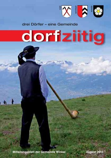 Dorfziitig August 2013 - Gemeinde Winkel