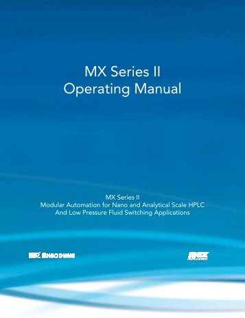 MX Series II Operating Manual