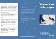Winterdienst in Dormagen - Stadt Dormagen