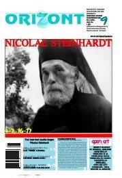 www.revistaorizont.ro Trei interviuri inedite despre Nicolae Steinhardt
