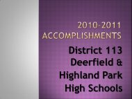 2010-2011 Accomplishments - Township High School District 113