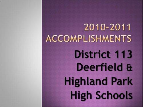 2010-2011 Accomplishments - Township High School District 113