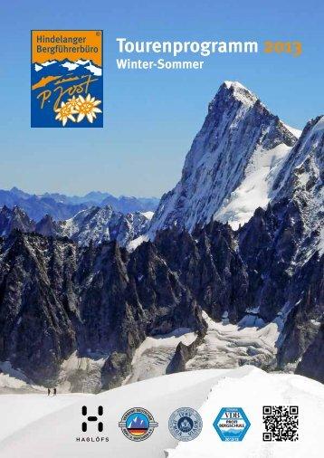 Tourenprogramm Winter - Hindelanger Bergführerbüro