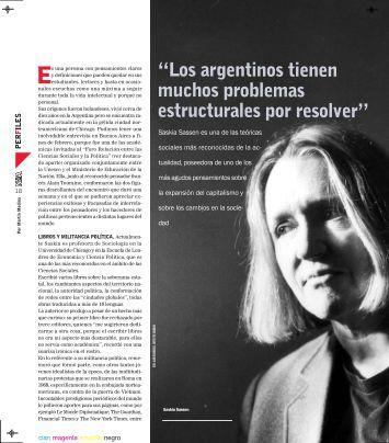 """""""Los argentinos tienen muchos problemas ... - Saskia Sassen"""
