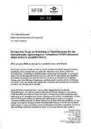 Förslag från Norge om förändring av Madridsystemet för den ... - SFIR