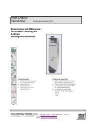 EXTVA-500-UC Speisetrenner - ACS-CONTROL-SYSTEM GmbH