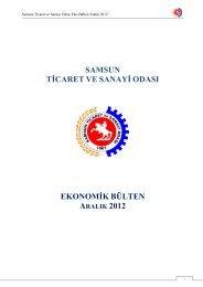 Aralık 2012 - Samsun Ticaret ve Sanayi Odası