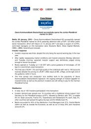 DKD succesfully issued public Jumbo Pfandbrief - Dexia ...