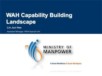 WAH Capability Building updates - Workplace Safety and Health ...