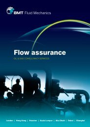 Flow Assurance brochure. - BMT Fluid Mechanics