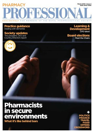 pharmacists in secure environments - Royal Pharmaceutical Society